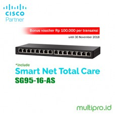 Cisco SG95-16-AS 16-Port Gigabit Switch Garansi Resmi 1 Tahun