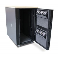 APC NetShelter CX 24U Secure Soundproof Server Room in a Box Enclosure AR4024A