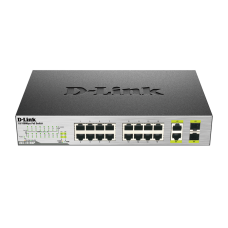 D-Link 18-Port Unmanaged PoE Switch, DES-1018MP