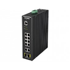 D-Link 10-port UTP 10/100/1000Mbps, 2-port Gigabit SFP (H/W : A1, Rackmountable)Operating temperature: -40~     65, DIS-200G-12S