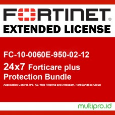 Fortigate FC-10-0060E-950-02-12 FORTISUBSCRIPTION 24x7 FortiCare plus Application Control, IPS, AV, Web Filtering and Antispam, FortiSandbox Cloud