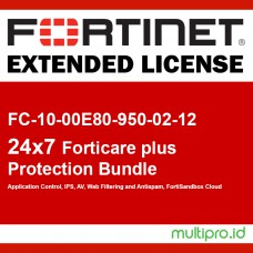 Fortigate FC-10-00E80-950-02-12 FORTISUBSCRIPTION 24x7 FortiCare plus Application Control, IPS, AV, Web Filtering and Antispam, FortiSandbox Cloud