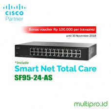 Cisco SF95-24-AS 24-Port 10/100 Switch - Garansi Resmi 1 Tahun