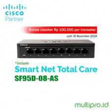 Cisco SF95D-08-AS 8-Port 10/100 Switch - Garansi Resmi 1 Tahun