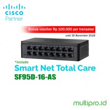 Cisco SF95D-16-AS 16-Port 10/100 Switch - Garansi Resmi 1 Tahun