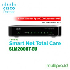Cisco SLM2008T-EU SG200-08 8-port Gigabit Smart Switch Garansi Resmi 1 Tahun