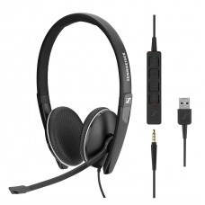 Sennheiser Call Center SC 165 USB wired Binaural UC headset, with 3.5mm jack and USB call control, skyp for business certified,508319