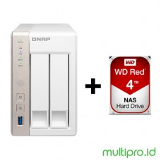 QNAP TS-251A-4G 2-Bay NAS + WD RED 4TB 1 pcs