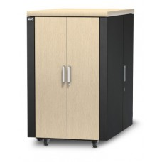 APC NetShelter CX 24U Secure Soundproof Server Room in a Box Enclosure International AR4024IA
