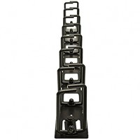 AR8442, Vertical Cable Organizer 8 Cable Rings, Zero U