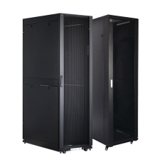 Vertiv S27-61242 S27-Series Rack-42Ux600Wx1200D with Side panels, RAL900S Black